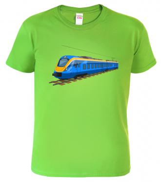 Tričko s vlakem - Modrý vlak