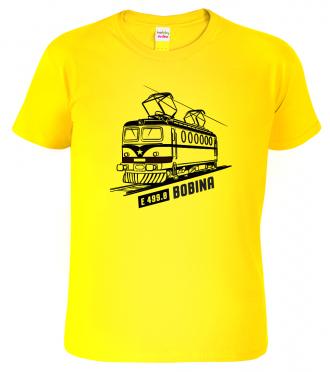 Dětské tričko s vlakem - Lokomotiva BOBINA