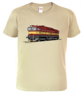 Tričko s lokomotivou Brejlovec