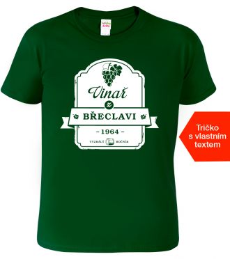 Vtipná trička k narozeninám pro vinaře
