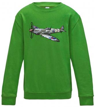 Dětská mikina s letadlem