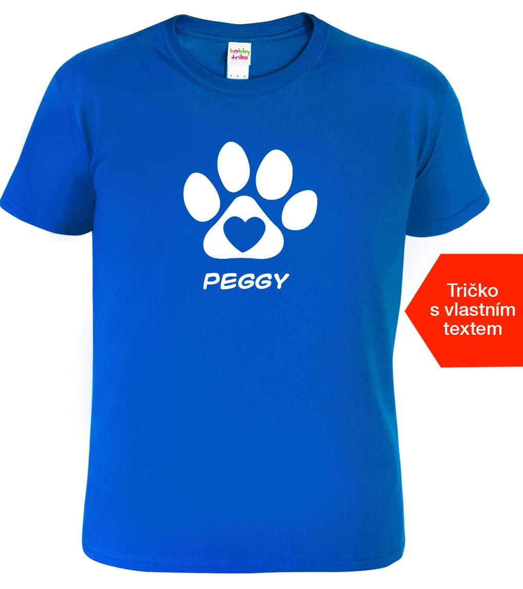 Dětské tričko se jménem psa Barva: Modrá (Royal Blue), Velikost: XS - 102 (3-4 roky)