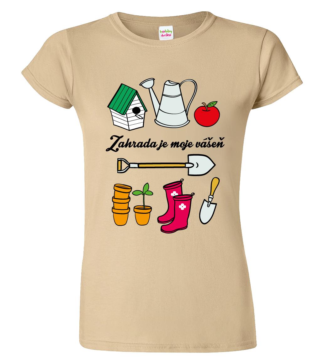 Tričko pro zahradnici - Nářadí ženy Barva: Zelená (Irish green), Velikost: S