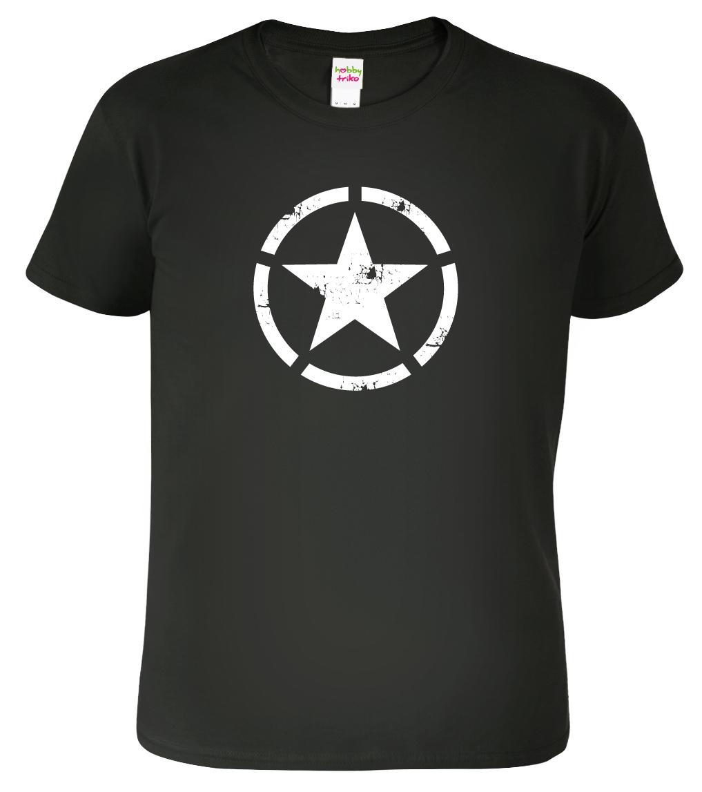 Army tričko - US Army Star Barva: Černá (Black), Velikost: 3XL