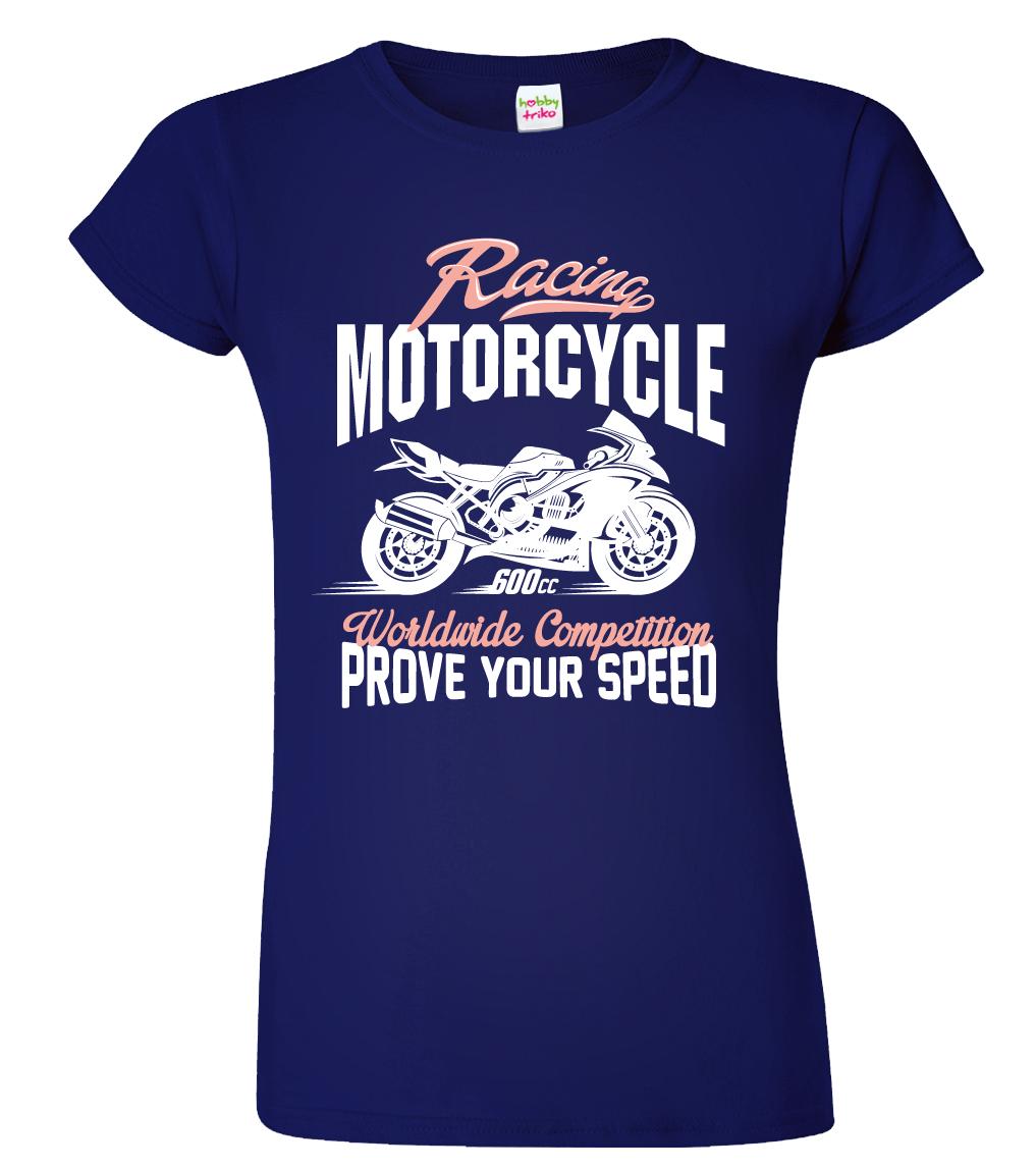 Dámské motorkářské tričko - Racing Motorcycle Barva: Červená (Red), Velikost: S