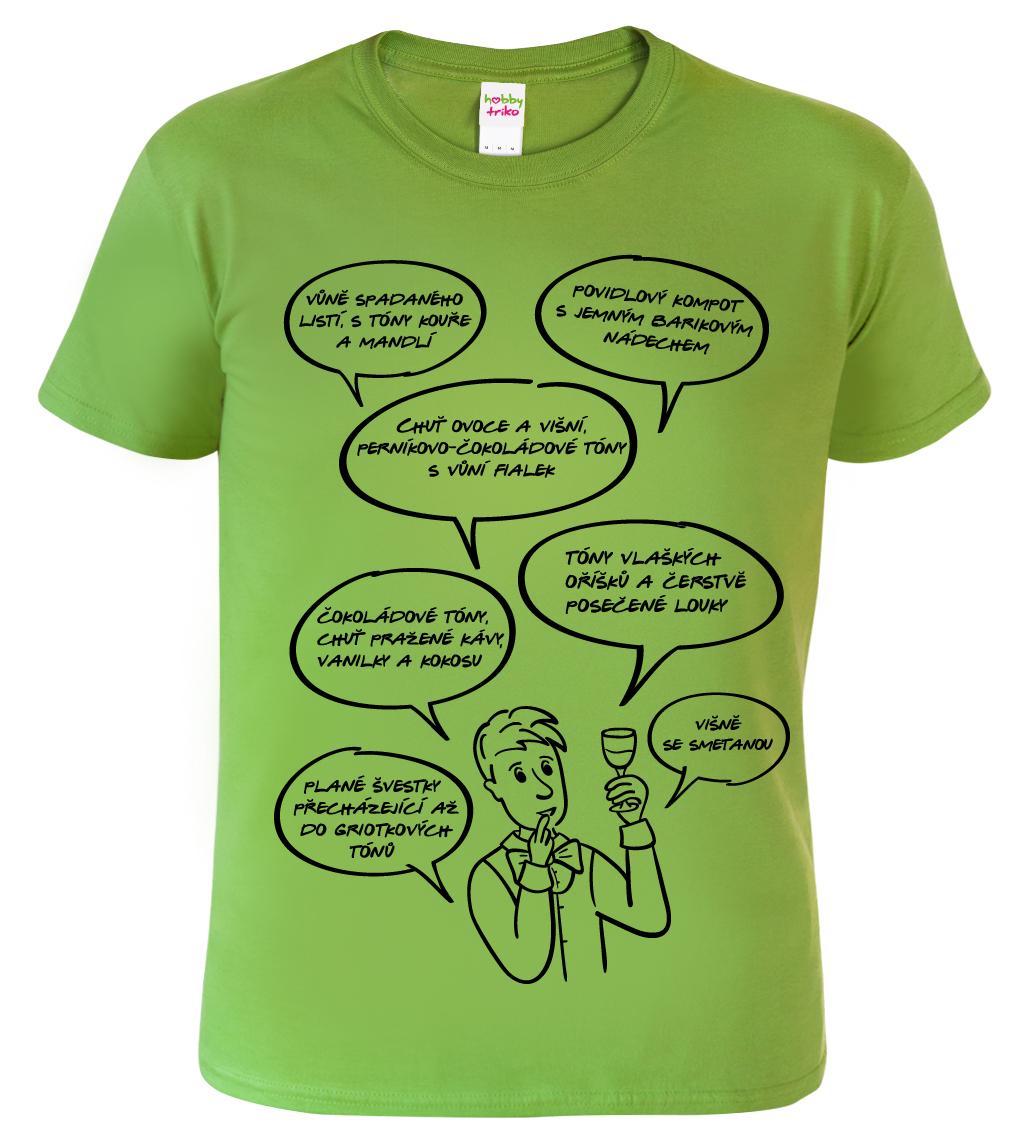 Tričko pro vinaře - Sommelier Barva: Zelená (Kiwi), Velikost: S