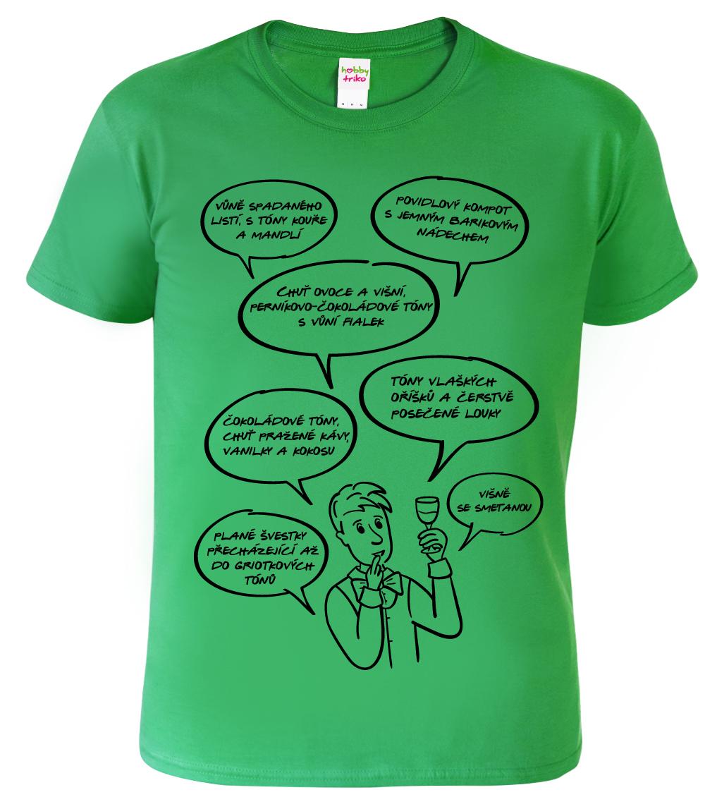 Tričko pro vinaře - Sommelier Barva: Zelená (Kelly Green), Velikost: S