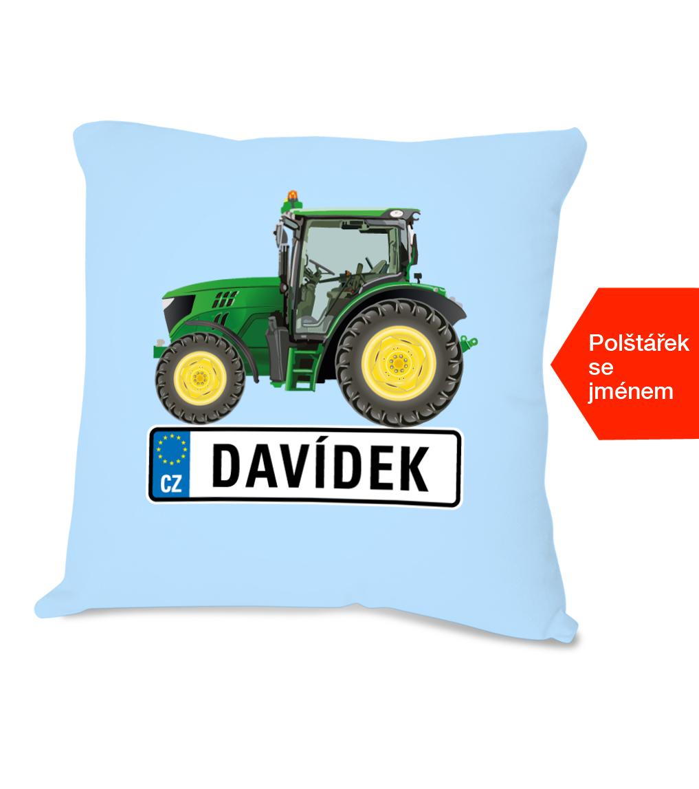 Dětský polštářek se jménem - Traktor SPZ