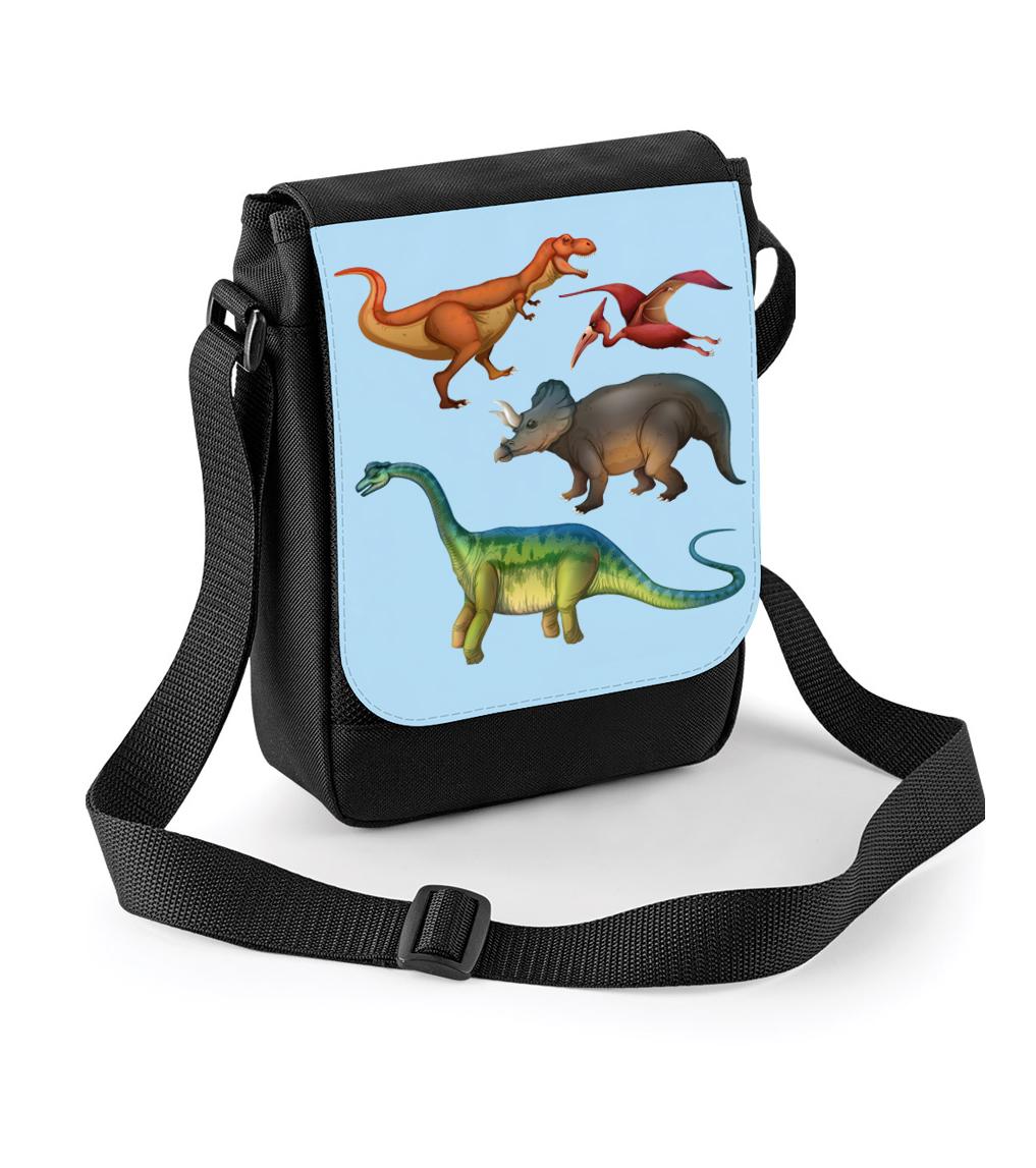 Taška s dinosaury - Dinosauři Barva: Černá