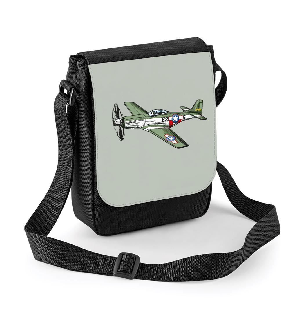 Taška s letadlem - P-51 Mustang Barva: Černá
