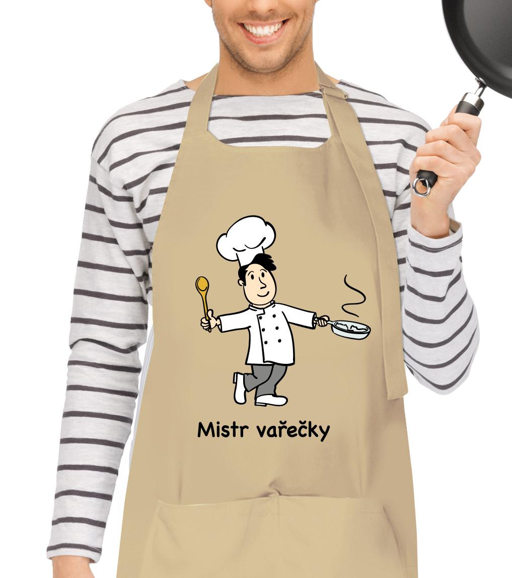 Kuchařská zástěra - Mistr vařečky Barva: Béžová