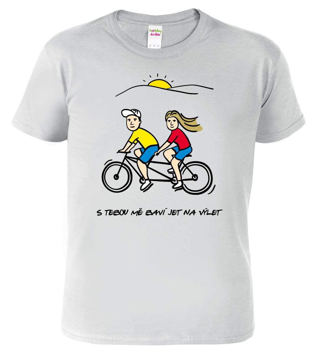 Dětské tričko pro cyklistu - Dvojkolo Barva: Šedá (Sport Grey), Velikost: XL - 144 (12-14 let)