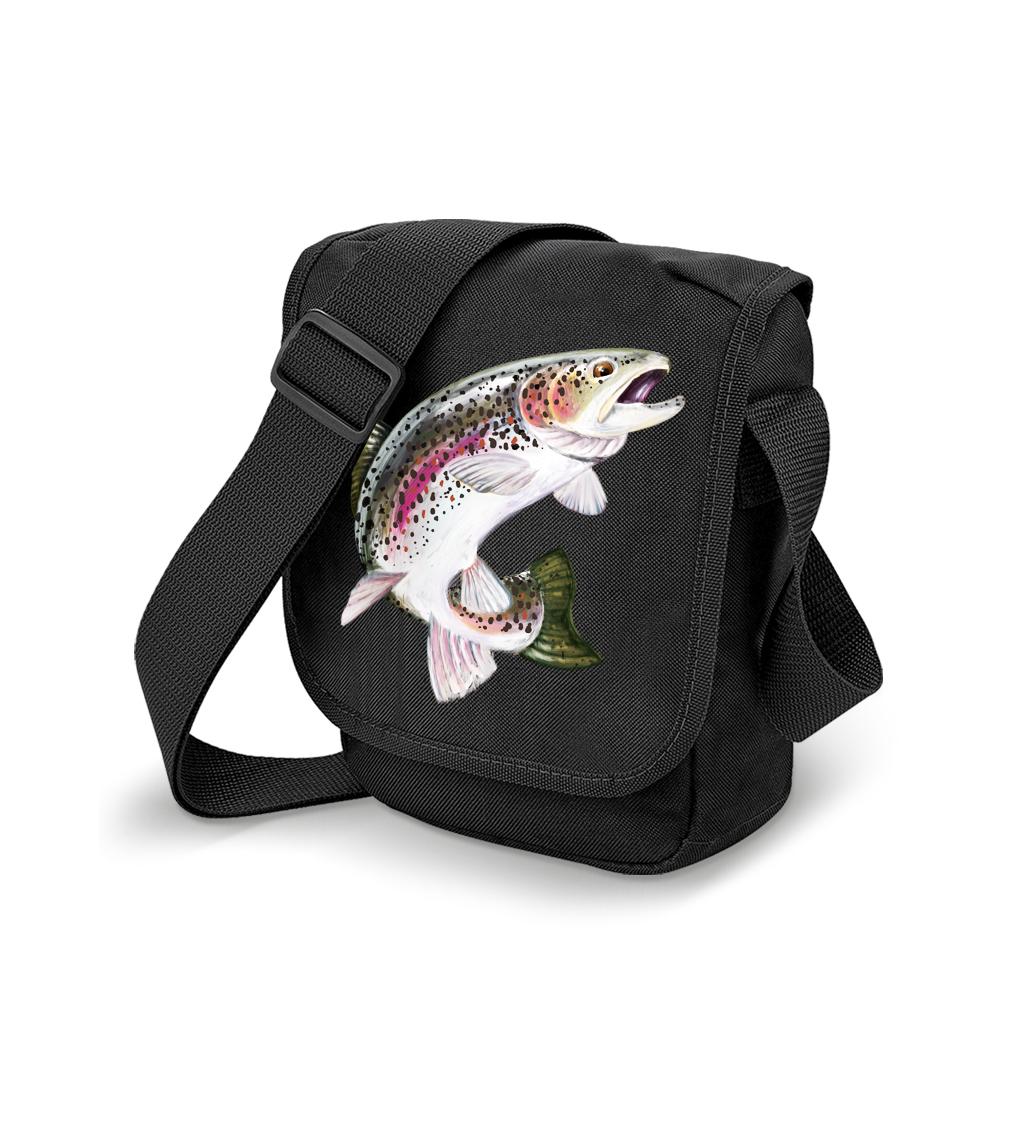 Taška pro rybáře - Pstruh duhový Barva: Černá
