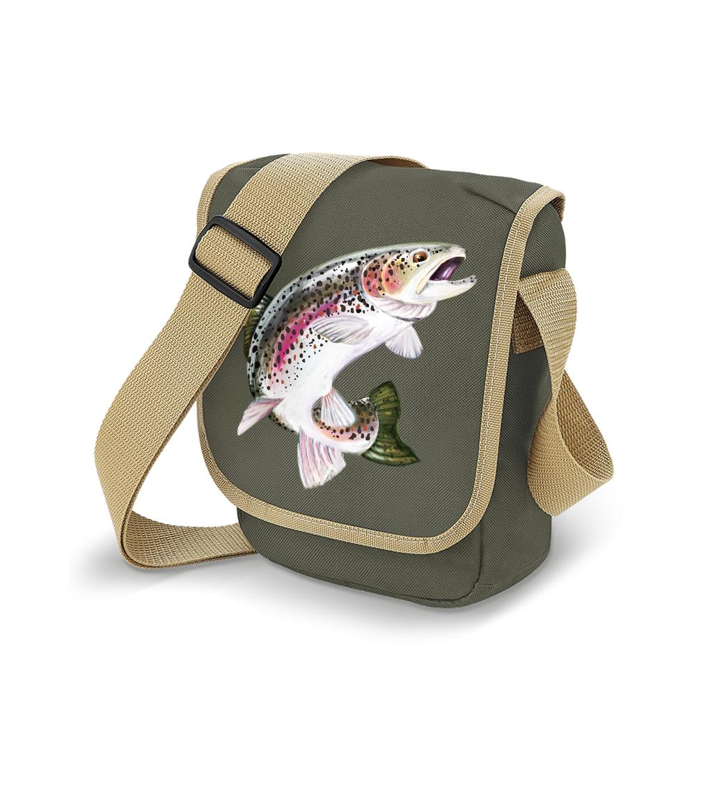Taška pro rybáře - Pstruh duhový Barva: Khaki