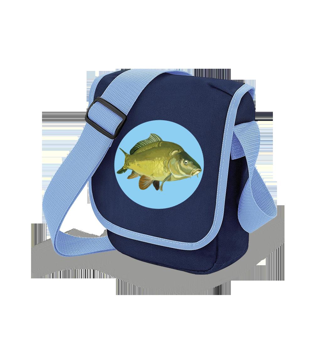 Taška pro rybáře - Malovaný kapr obecný Barva: Modrá