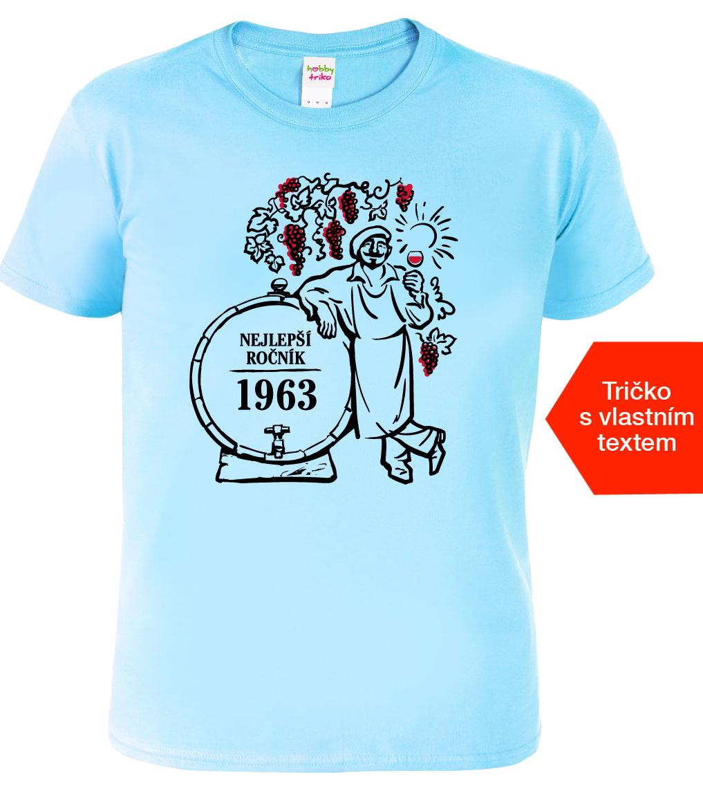 Tričko k narozeninám pro vinaře - Nejlepší ročník Barva: Bledě modrá (Light Blue), Velikost: M
