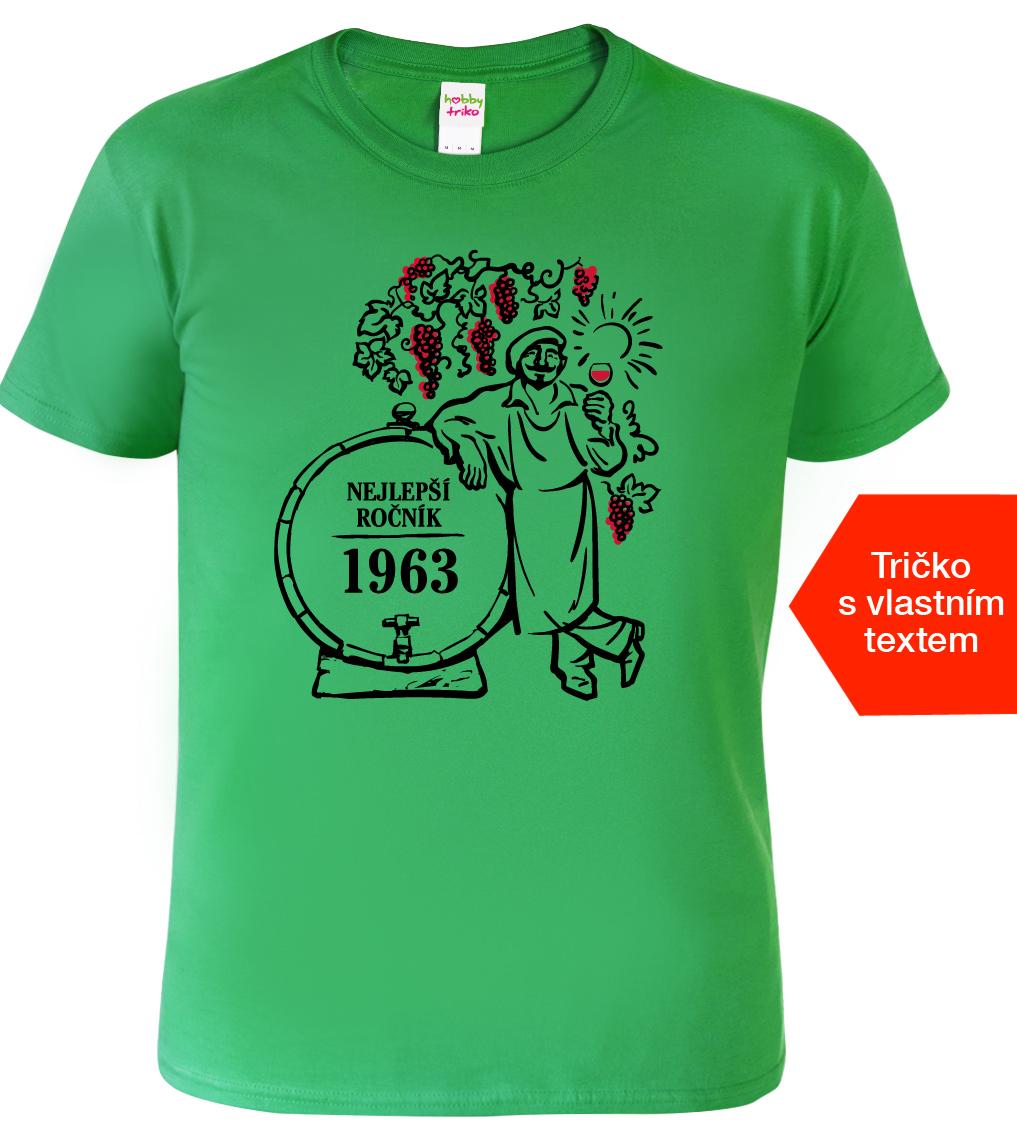 Tričko k narozeninám pro vinaře - Nejlepší ročník Barva: Zelená (Kelly Green), Velikost: S