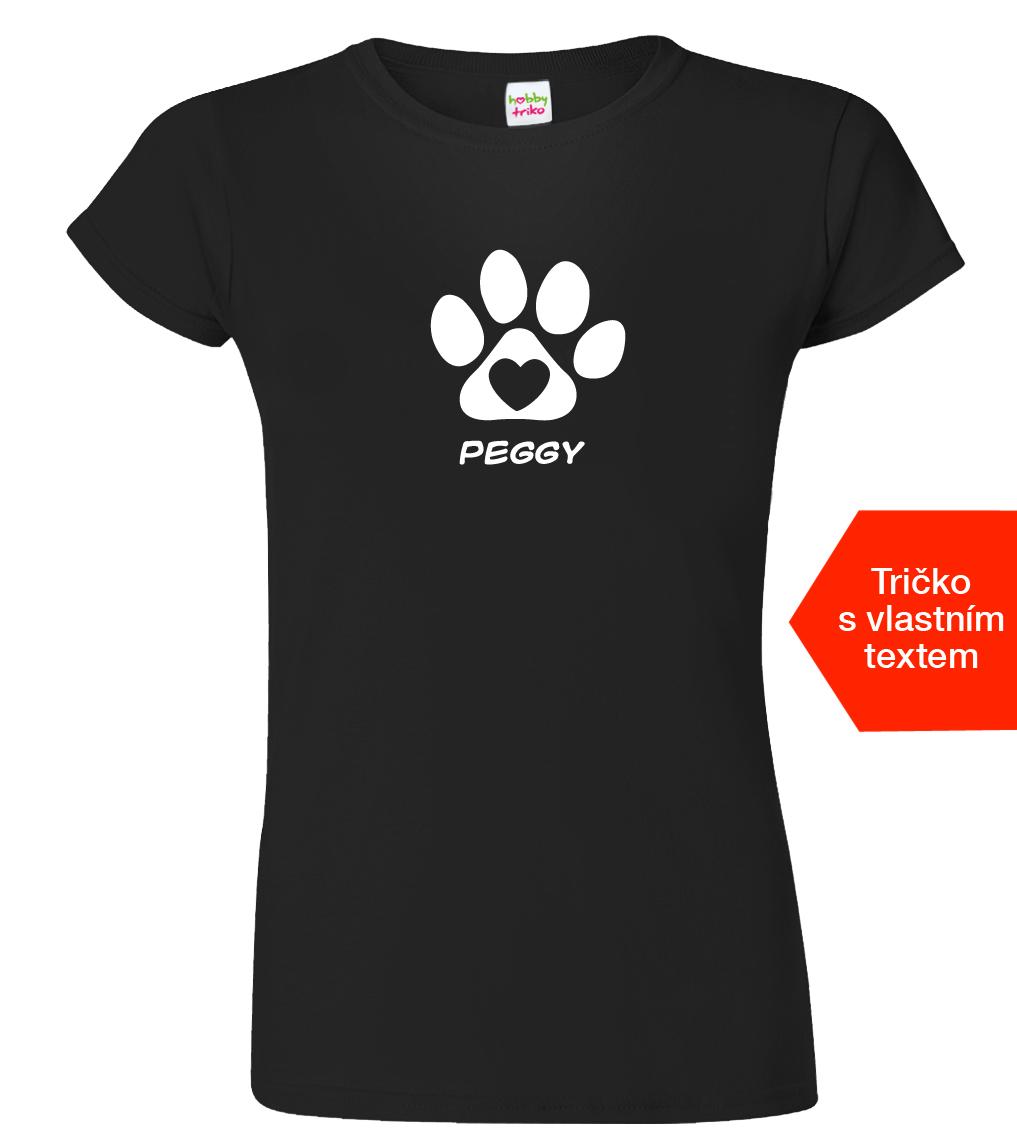 Tričko se jménem vašeho psa Barva: Černá (Black), Velikost: S