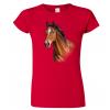 Dámské tričko s koněm - Hnědák
