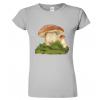 tričko s houbou šedá