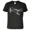 Tričko s letadlem - Mustang, Black&White Edition