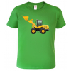 Dětské tričko s bagremDětské tričko s bagrem - nakladačem