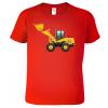 Dětské tričko s bagrem - nakladačem