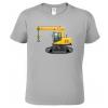 Dětské tričko s bagrem - Jeřáb