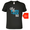 Tričko k narozeninám pro cyklistu black