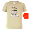 Tričko pro včelaře Včelař z. sand