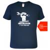 Tričko pro instalatéra + tel. Navy