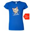 Dámké tričko s kočkou a jménem