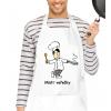 Kuchyňská zástěra pro muže bílá