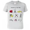 Triko dětské - Barevné cestovatelské  symboly