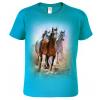 Dětské tričko s koněm - Malované koně