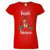 Vánoční trička - tričko se sobem