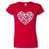 Dámské houbařské tričko - Srdce