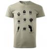 Myslivecné tričko - Stopy divé zvěře (černý potisk)
