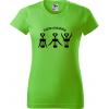Vtipné tričko - Cvičím pravidelně