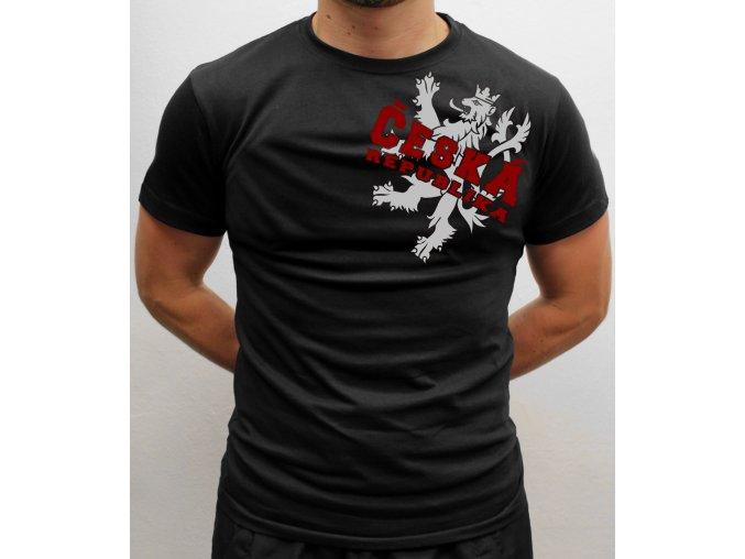 Pánské tričko - Český lev (rameno)