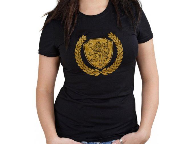 Dámské triko - Zlatý lev