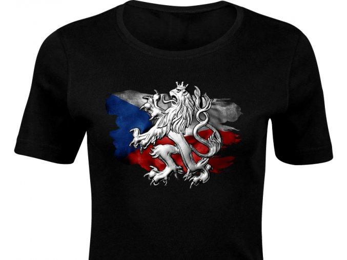 Dámské triko - Český lev (3D) (D)