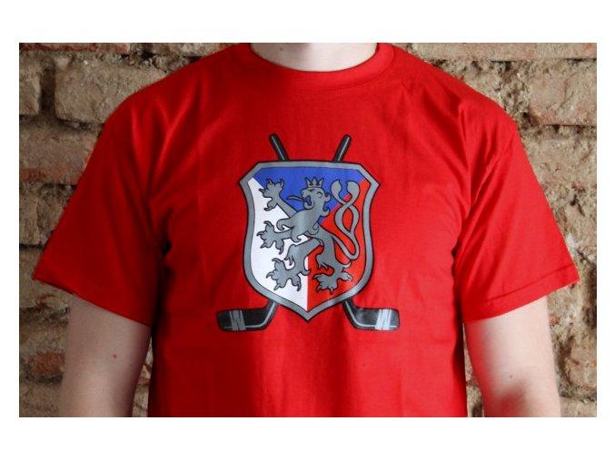 Pánské tričko - Lev a hokejky