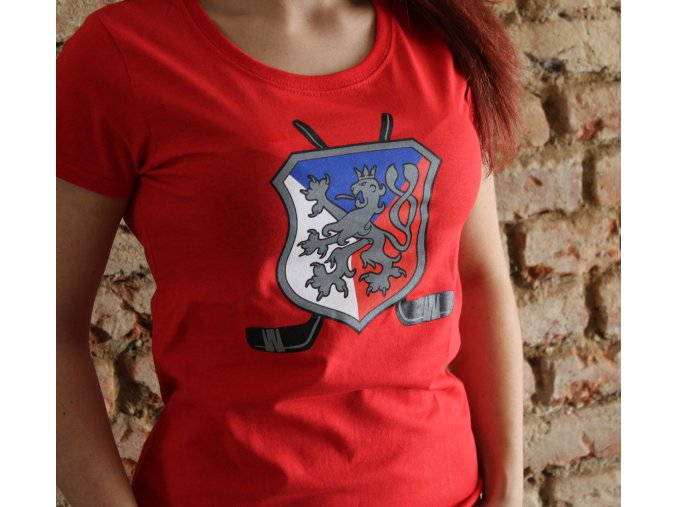 Dámské triko - Lev a hokejky