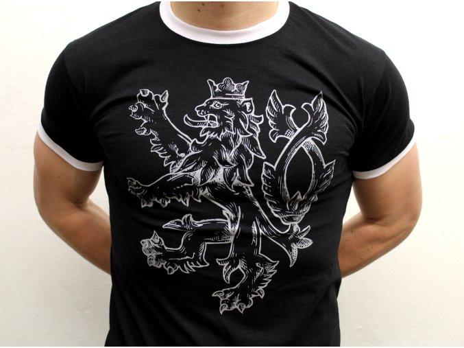 český lev černá detail