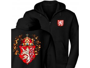 Zipová Mikina - Lev s korunou