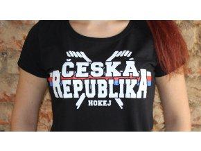 Dámské triko - Česká republika - hokej