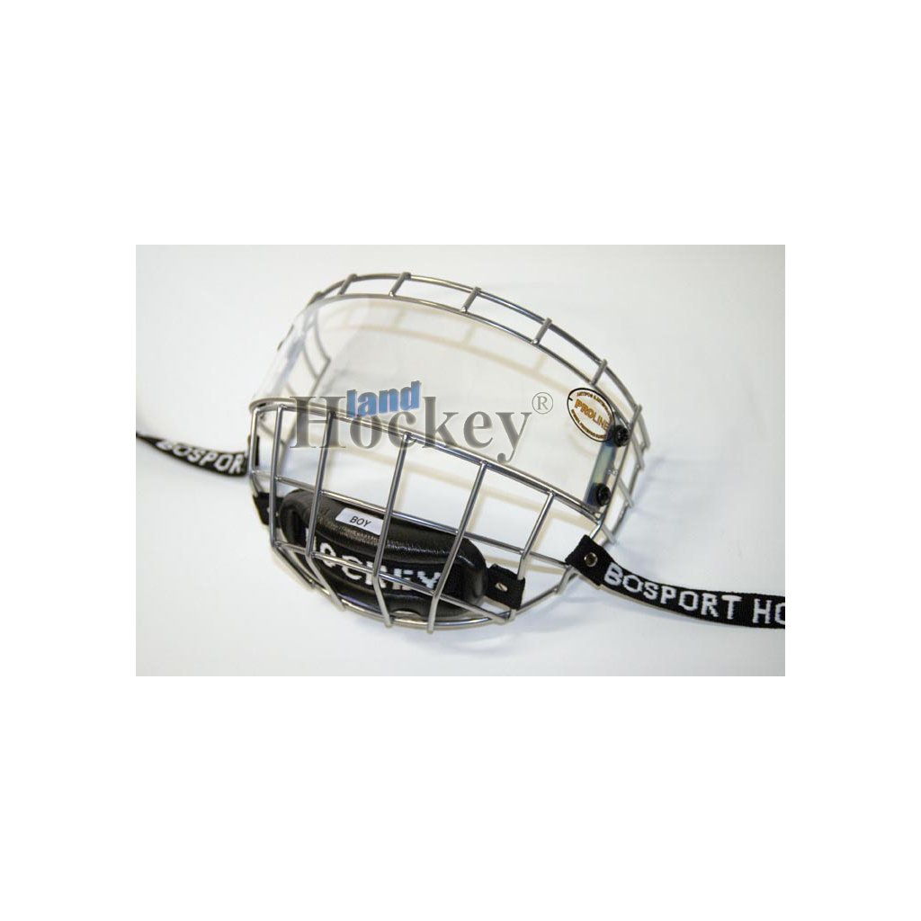Plexi s mřížkou na hokejovou helmu Bosport Uniplexi Flat
