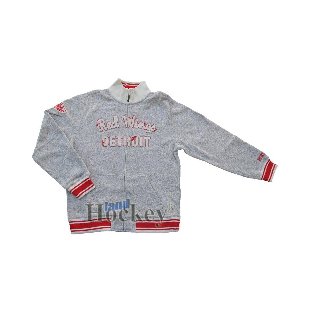 Mikina CCM Team Classic Sweater Knit Track Jacket Detroit J6051