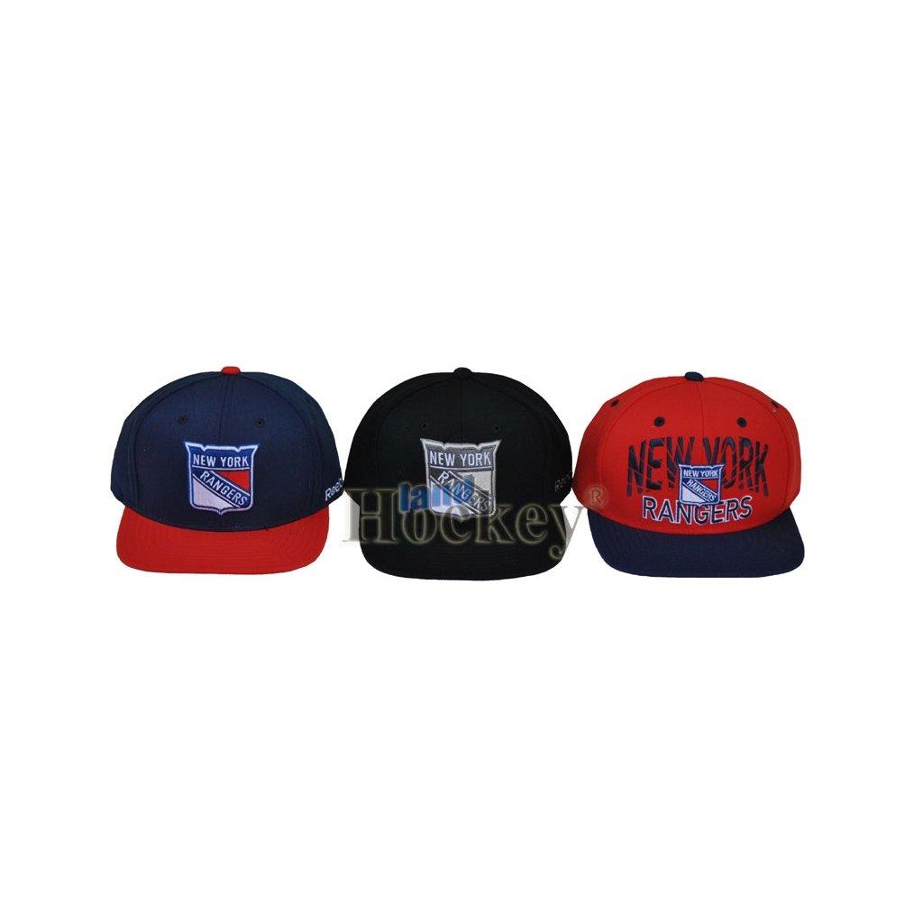 Kšiltovka Reebok Crown Flat Cap New York Rangers